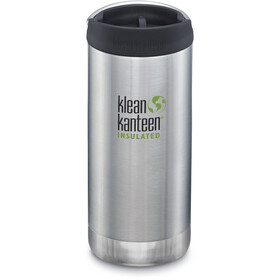 Klean Kanteen TKWide Gourde avec couvercle Cafe 355ml Isolant, brushed stainless